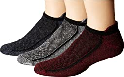 HUE - Sport No Show Socks with Tab Back 3-Pair Pack