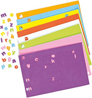 Baker Ross Self-Adhesive Foam Lower-Case Letters Alphabet Stickers Children's Craft Supplies 1100 (Per Pack)