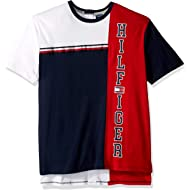 Tommy Hilfiger Men's Adaptive Seated Fit T Shirt with Adjustable Closure