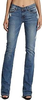 TheMogan Women's Basic Slim BOOTCUT JEANS Flare Pants 0~3XL