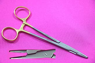 1 Each German Stainless TC Olsen HEGAR Needle Holder 6 Inches Serrated with Tungsten Carbide Inserts