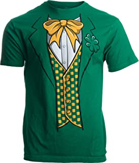 Leprechaun Tuxedo   Funny St. Patrick`s Day Irish Paddy Costume for Men T-Shirt