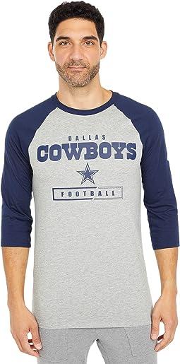 Dallas Cowboys Nike Wordmark Football All 3/4 Sleeve Raglan