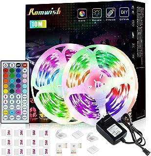 LED Lightbars 10M, Romwish 5050 RGB Lightbar voor Camera Kleurwisselaar Kit met IR-afstandsbediening en Voeding, LED Light...