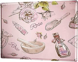 Retro Rose Perfume Kitchen Lámina de Metal Retro para Bodega de Bodega casera Tienda de decoración del hogar