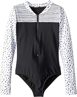Seafolly Kids Pineapple Daze Long Sleeve Surf Tank One-Piece (Little Kids/Big Kids)