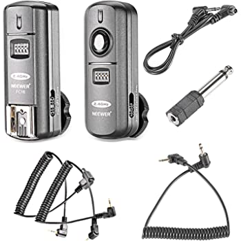 Neewer FC-16 3-IN-1 2.4GHz Wireless Flash Trigger with Remote Shutter Compatible with Canon Rebel T3 XS T4i T3i T2i Xsi EOS 1100D Mark IV 1D Mark III 5D Mark III 5D Mark II 50D 40D