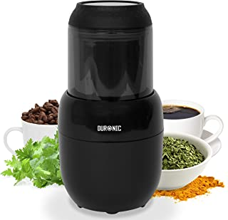 Duronic Electric Spice Grinder Mill CG300 | 100g | 300W | Stainless-Steel Blade | For Beans, Herbs, Spices, Nuts, Seeds, Pulses and Fruit | Mini Chopper | Small Blender for Wet and Dry Ingredients