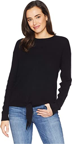 Long Sleeve Knotted Front Sweater
