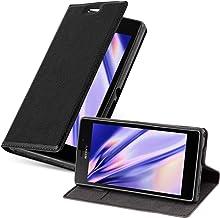 Cadorabo Funda Libro para Sony Xperia M2 en Negro Antracita – Cubierta Proteccíon con Cierre Magnético, Tarjetero y Función de Suporte – Etui Case Cover Carcasa
