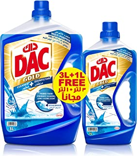 DAC Gold Disinfectant Multi-Purpose Cleaner - Ocean Breeze 3 L+ 1 L