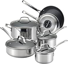 Circulon 77881 Genesis Stainless Steel Cookware Pots and Pans Set, 10 Piece