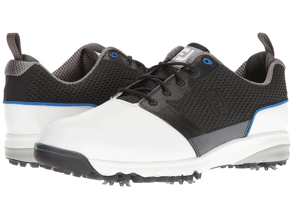 FootJoy Contour FIT Cleated Plain Toe (White/Black) Men