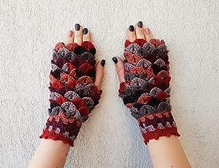 Arm warmers Handmade Dragon scale gloves