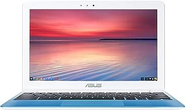 ASUS C201 11.6 Inch Chromebook (Rockchip, 4 GB, 16GB SSD, Pearl White/Light Blue)