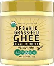 100% Natural New Zealand made Organic Grass Fed Ghee, 250 ML, Keto Paleo Friendly Superfood by MILKIO