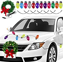 Aneco Christmas LED Car Wreath Christmas Christmas Car Refrigerator Reflective Bulb Light Decorations Christmas Automotive...