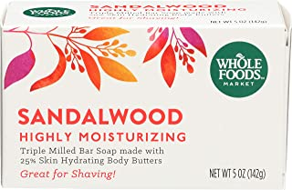 Whole Foods Market Sandalwood Triple Milled Bar Soap