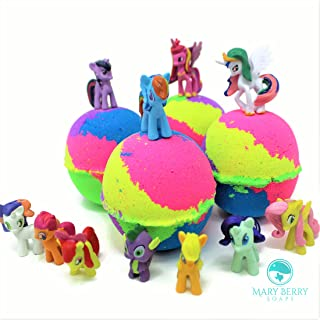 Rainbow My Little Pony Inspired Kids Surprise Bath Bomb Gift Set