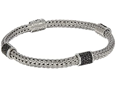 John Hardy Classic Chain Four-Station 5mm Bracelet with Black Sapphire (Silver) Bracelet