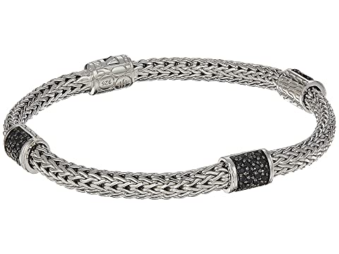 John Hardy Classic Chain Four-Station 5mm Bracelet with Black Sapphire