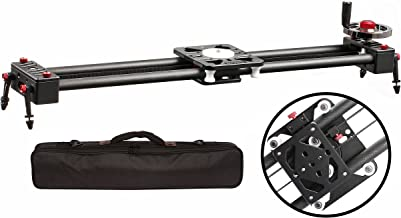 Movo X-Slider Expandable Carbon Fiber Sliding Track with Belt-Drive System and Weighted Flywheel Hand Control