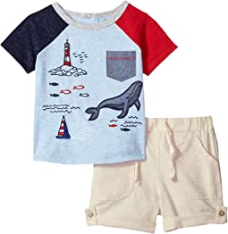 Sail Away Two-Piece Shorts and T-Shirt Set (Infant)
