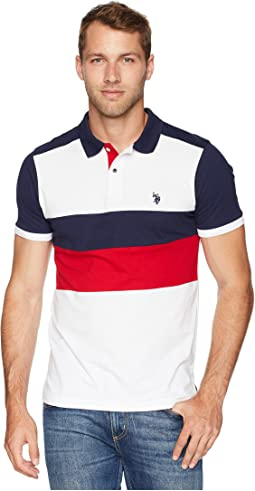 40efdcfa789f U s polo assn short sleeve slim fit color block pique polo shirt at ...