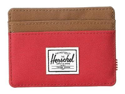 Herschel Supply Co. Charlie RFID (Red/Saddle Brown) Wallet Handbags