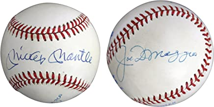 Yankees Mickey Mantle & Joe DiMaggio Signed OAL Baseball Autographed BAS #A05137