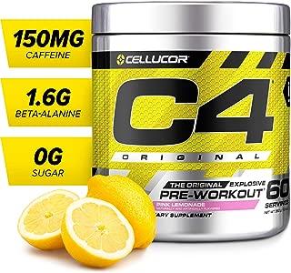 C4 Original Pre Workout Powder Pink Lemonade   Sugar Free Preworkout Energy Supplement for Men & Women   150mg Caffeine + Beta Alanine + Creatine   60 Servings