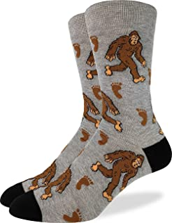 Good Luck Sock Men's Bigfoot Crew Socks - Grey, Shoe Size 7-12