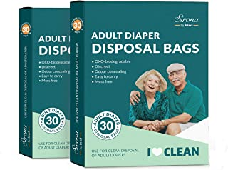 Sirona Premium Adult Diaper Disposable Bags - 60 Bags
