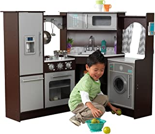 kidkraft ultimate corner play kitchen with lights & sounds white