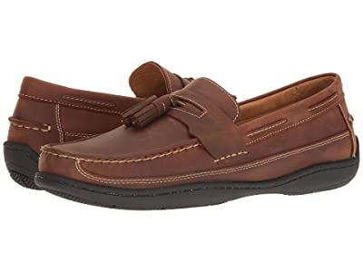 Johnston & Murphy Fowler Casual Kiltie Tassel Slip-On (Light Tan Oiled Full Grain) Men