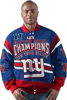 G-III Sports New York Giants Gladiator 4 Time Super Bowl Champions Cotton Twill Jacket