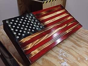 american flag gun cabinet