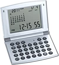 $21 Get Natico Multifunctional World time Clock, Calendar and Calculator (10-WT208), silver