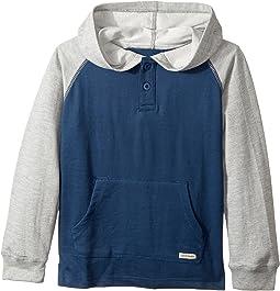 Long Sleeve Raglan Pullover Hoodie (Little Kids/Big Kids)