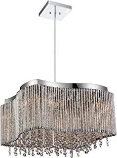 8 Light Drum Shade Chandelier with Chrome Finish