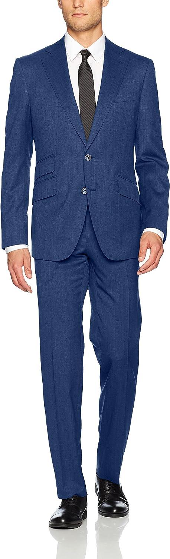 Robert Graham Men's Bartel Modern Fit 2 Button Notch Lapel Side Vent Suit