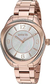 Invicta Women's Bolt Quartz Watch with Stainless Steel Strap, Rose Gold, 18 (Model: 31221)
