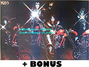 KISS on Motorcycles POSTER 31X21 +BONUS pic choppers Kiss Gene Simmons Ace Frehley Paul Stanley Peter Criss repro (sent FROM USA in PVC pipe)