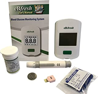 eBfresh eB-F01 Blood Glucose Monitor/Meter Kit+Strips+