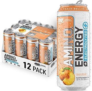 Optimum Nutrition Amino Energy + Electrolytes Sparkling Hydration Drink - Pre Workout, BCAA, Keto Friendly, Energy Powder ...