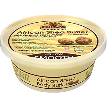 Shea Butter Yellow Smooth All Natural, 100% Pure Unrefined Daily Skin Moisturizer For Face&Body Softens Tough Skin Moisturizes Dry Skin Adds Shine&Luster To Hair Alleviates Scalp Dryness 7.5oz