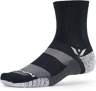 Swiftwick- FLITE XT FIVE Running & Golf Socks, Fitness, Ultimate Stability, Non-Slip Crew Socks