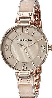 Anne Klein Women's AK/2210BMRG Rose Gold-Tone and Pink Marbleized Bangle Watch