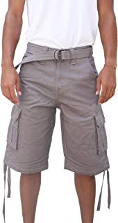 La Gate Mens Big and Tall Belted up to size 50 Cargo Short