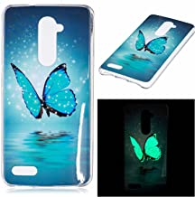 for ZTE ZMax Pro 981 Case, Noctilucent Glow in The Dark Case Matching Design Protective Phone Back Cover TPU Shell Case for ZTE ZMax Pro 981 (Butterfly)